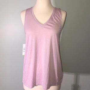 Lavender Athletic Tank with Crisscross back detail